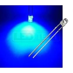 LED dioda 3mm modrá ploché čelo 100°
