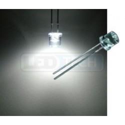 LED dioda 5mm studená bílá ploché čelo 100°