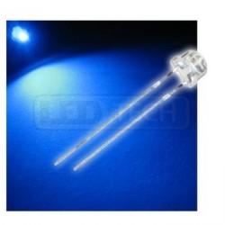 LED dioda 5mm modrá straw hat 120°