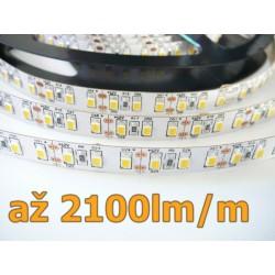 LED pásek 20W, 120 LED, CRI 92, nezalitý - Denní bílá