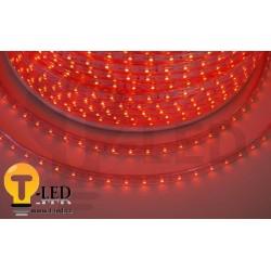LED pásek 230V, 3.5W, 60 LED, IP67, Červená