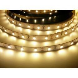 LED pásek 12W, 60 LED, 24V, Teplá bílá, nezalitý