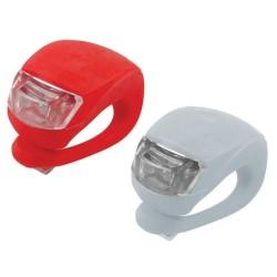2ks LED světlo na kolo 2LED silikonové