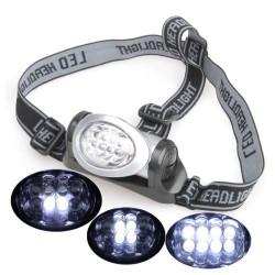 LED čelovka 8xLED 3xAAA baterie