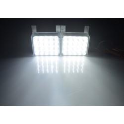 LED stroboskop 2x20 LED bílý