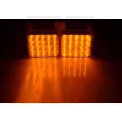 LED stroboskop 2x20 LED žluto oranžový