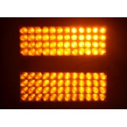 LED stroboskop 2x48 LED žluto oranžový