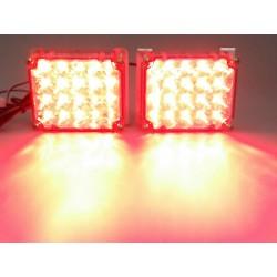LED stroboskop 2x20 LED červený