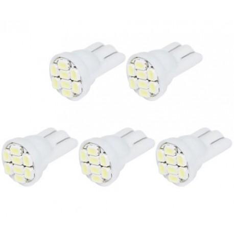 LED žárovka T10 W5W 8 SMD bílá