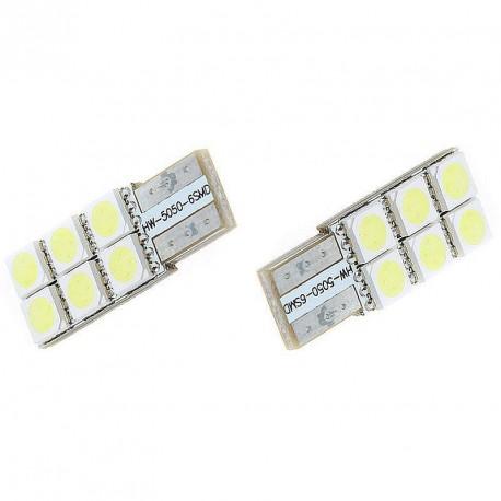 LED žárovka T10 W5W 6x 3SMD jednostranná bílá