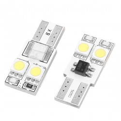 LED žárovka T10 W5W 4x 3SMD oboustranná bílá