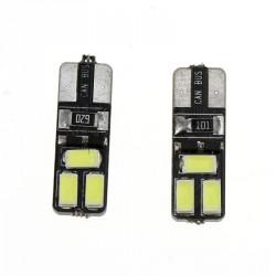 LED žárovka T10 W5W 6x SMD oboustranná bílá