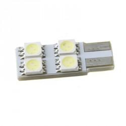 LED žárovka T10 W5W 4x 3SMD jednostranná bílá