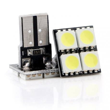 LED žárovka T10 W5W 4x 3SMD top bílá