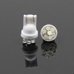 LED žárovka T10 W5W 7 led bílá