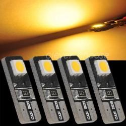 LED žárovka T10 W5W 2x 3SMD teplá bílá