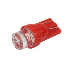 LED žárovka T10 W5W LED červená