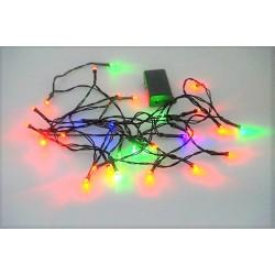 Bateriový LED řetěz - Barevný - 30 LED 3,5 metrů