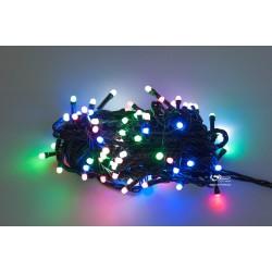Vánoční LED řetěz - osvětlení - Barevné - 100 LED 10 metrů
