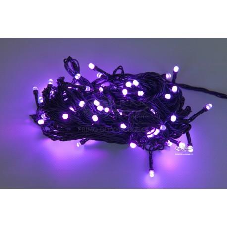 Vánoční LED řetěz - osvětlení - Fialové - 100 LED 10 metrů