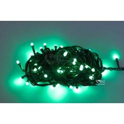 Vánoční LED řetěz - osvětlení - Zelené - 100 LED 10 metrů
