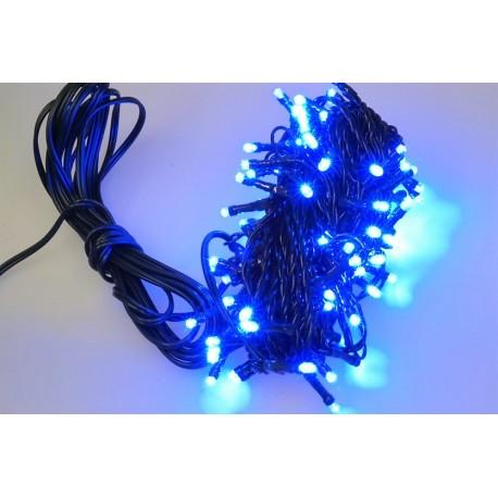 Venkovní LED řetěz - osvětlení - Modré - 100 LED 3+10 metrů