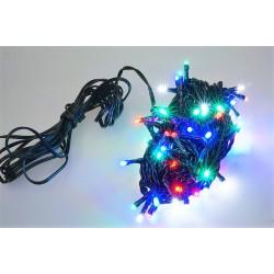 Venkovní LED řetěz - osvětlení - barevné - 100 LED 3+10 metrů