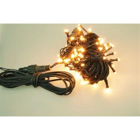 Venkovní LED řetěz - osvětlení - Teplé bílé - 100 LED 3+10 metrů