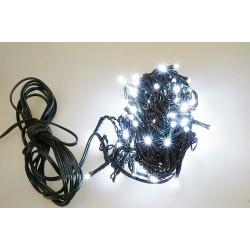 Venkovní LED řetěz - osvětlení - Bílé - 100 LED 3+10 metrů