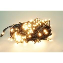 Vánoční LED řetěz - osvětlení - Teplé bílé - 180 LED 18 metrů