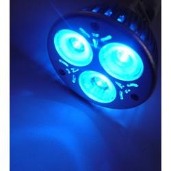 Barevná LED žárovka E27 modrá