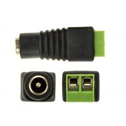 DC konektor napájecí se svorkovnicí samice