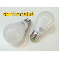 LED žárovka E27 9W stmívatelná