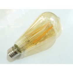Oválná LED žárovka E27 4W FILAMENT teplá bílá