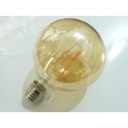 Kulatá LED žárovka E27 4W FILAMENT teplá bílá