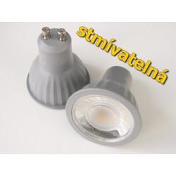 Stmívatelná LED žárovka GU10 7W 60°