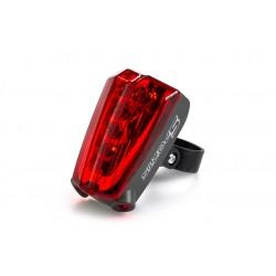 LED světlo s laserem na kolo