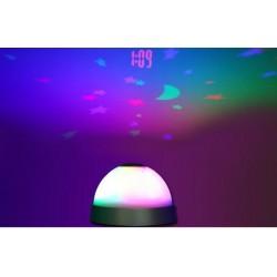 Relaxační budík s projektorem času měnicí barvy