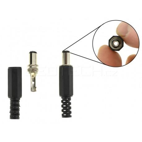 DC konektor napájecí kabelový samec