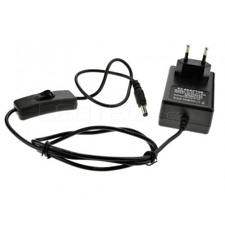 LED zdroj 12V 24W s vypínačem černý