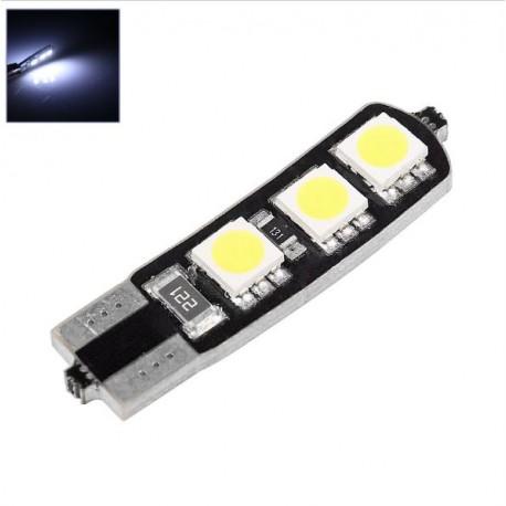 LED žárovka T10 W5W 6x 3SMD oboustranná bílá