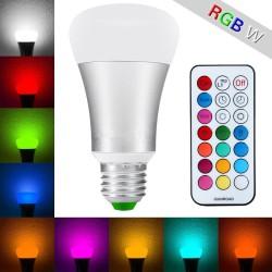 LED žárovka RGBW 10W E27 - 330° - RGB + Studená bílá