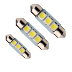 LED sufitka 36mm 3x 3SMD bílá
