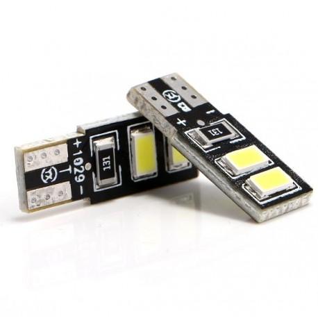 LED žárovka T10 W5W 4x SMD oboustranná bílá