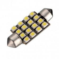 LED sufitka 39mm 16x SMD bílá
