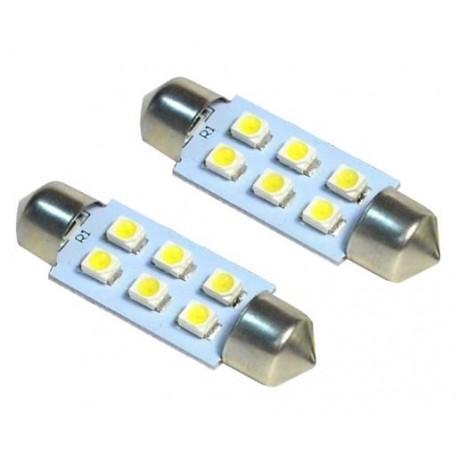 LED sufitka 39mm 6x SMD bílá