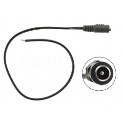 Napájecí DC konektor s kabelem samice barva černá