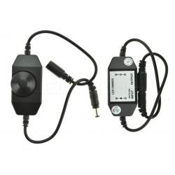 Manuální LED ovladač stmívač M1 pro jednobarevné LED pásky černý