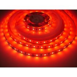 LED pásek 12W, 60 LED, Nezalitý IP 20 - Červená