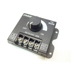 Manuální LED ovladač stmívač M6 pro jednobarevné LED pásky